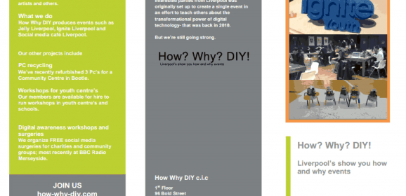 The what we do leaflet